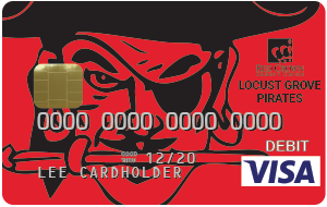 Locust Grove Pirates Debit Card